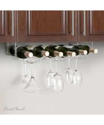 Suport inox bar pentru sticle si pahare