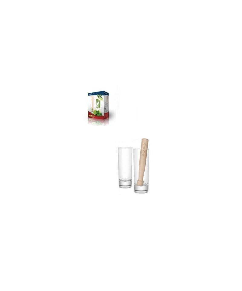 Set 2 pahare mojito cu mojar-LIFE STYLE TIPS SRL