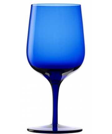 Pahar apa cu picior 340 ml, Stolzle, albastru, linia Grandezza