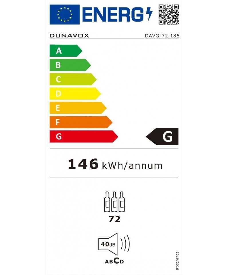 Racitor vinuri incorporabil, Dunavox DAVG-72.185DB.TO-LIFE STYLE TIPS SRL